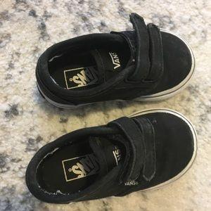 Vans 4 toddler black Velcro